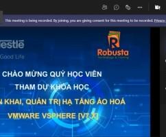 """Robusta khai giảng khóa đào tạo trực tuyến """"Triển khai, quản trị hạ tầng ảo hóa VMware vSphere [v7.x]"""""""