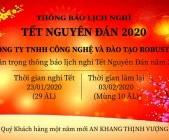 ROBUSTA THÔNG BÁO LỊCH NGHỈ TẾT NGUYÊN ĐÁN 2020
