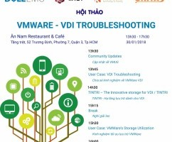 """Hội thảo VMUG với chủ đề """"VMWARE - VDI TROUBLESHOOTING"""" - 30/1/2018"""