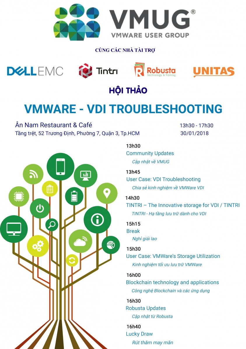 """Hội thảo VMUG với chủ đề """"VMWARE – VDI TROUBLESHOOTING"""""""